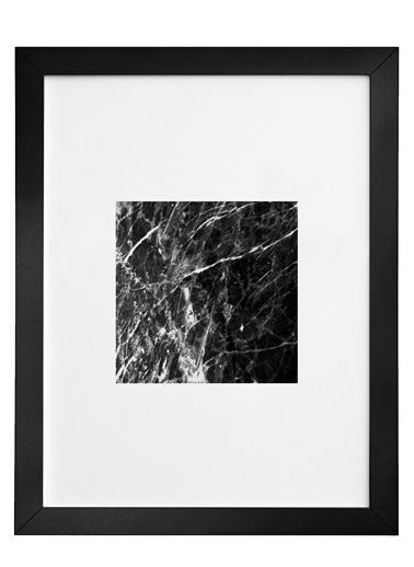 Nordbagen Black Marble Square Poster Siyah